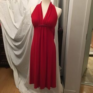 Jessica Howard Head Turning Red Cocktail Dress